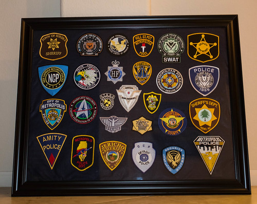 TV and Movies Fictional Law Enforcement Patch Display
