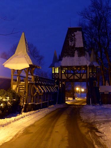 Gate of Schloss Kaltenberg at Night