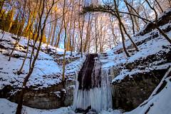 Hllenbachtal und Wasserflle (Pixel-World) Tags: schnee winter wasserfall eis landschaften eiszapfen winterlandschaft fototour langenfeld importiertestichworttags hllenbachtal landschaftensformen
