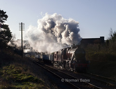 LMS 8F 2-8-0 No. 48624 (norman-bates) Tags: leicestershire smoke steam minerals gala freight steamengine steamrailway loughborough steamtrain wagons steamlocomotive lms greatcentralrailway gcr 8624 48624