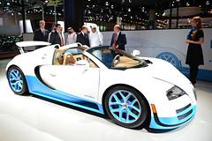 Bugatti Grand Sport Vitesse at Qatar Motor Show 2013 (Bugatti Automobiles S.A.S.) Tags: middleeast best jayleno expensive luxury fastest motorshow doha qatar supercars roadster vitesse 2013 type37 qatarmotorshow bugattiautomobiles bugattigrandsportvitesse