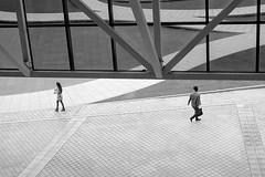 fair lady (doistrakh) Tags: people blackandwhite bw monochrome walking snapshot pedestrian fujifilm digitalcamera finepixx100
