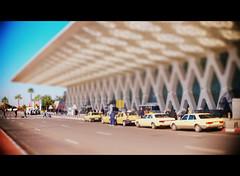 At the airport (Bjrn Giesenbauer) Tags: miniature airport crossing taxis morocco marrakech marrakesh menara faketiltshift