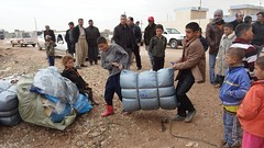 UNHCR News Story: UNHCR humanitarian aid convoy reaches displaced people in northern Syria (UNHCR) Tags: children middleeast visibility northerniraq winterization nfisdistribution syrianrefugees