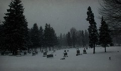 SNOW AT MT CALVARY CEMETERY