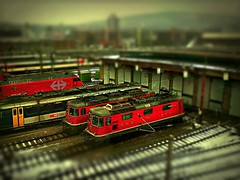 Toy story (maistora) Tags: mobile train toy switzerland miniature dof phone bokeh sony zurich transport engine fake cellphone shift railway explore smartphone filter locomotive process tilt effect postprocess android app edit tiltshift maistora pixlr xperia flickrandroidapp:filter=none explored6jan13