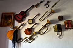 Music Wall (Paulo N. Silva) Tags: music guitar traditional decoration violin horn tuba instruments bandolin