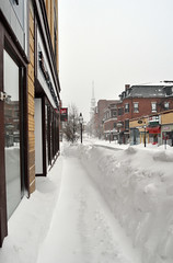 Sidewalk, downtown Portsmouth (Blake Gumprecht) Tags: winter snow weather downtown newhampshire sidewalk portsmouth february blizzard congressstreet 2013