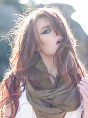 Julia Telthorst (Laura Von Telthorst) Tags: sun green nature colors girl model greeneyes redhair goldenhour sunflare lauratelthorst