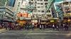 A Day in Hong Kong (isayx3) Tags: china street people color walking hongkong blog nikon angle stitch pano wide sigma disney billboards nikkor ultra f28 d800 14mm isayx3 plainjoestudios plainjoephotoblogcom