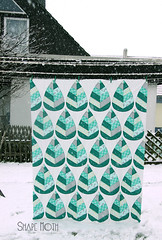 'Winter Forest' (1) (ShapeMoth) Tags: white snow modern grey quilt teal curves fox patchwork emerald michaelmiller lesamis winterforest shapemoth
