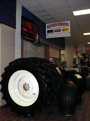 Bill's Tire & Service Display. (dccradio) Tags: wisconsin mall farming equipment machinery ag agriculture wi agricultural farmequipment farmshow marshfield farmmachinery centralwisconsin shoppesatwoodridge marshfieldmall wisconsinfarming machineryshow agshowagricultureshow