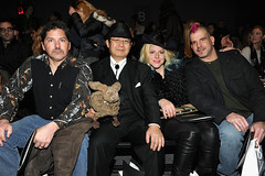 "Four ""Immortalizers"". The super stars of the AMC television show ""Immortalized"". CZAR By Cesar Galindo Fall 2013 Fashion Show in Manhattan, New York on February 8, 2013. Dr. Takeshi Yamada and Seara (sea rabbit) are in the front row. 99== (yamadaimmortalized) Tags: sculpture newyork celebrity art japan brooklyn painting coneyisland star tokyo tv artist dragon dinosaur vampire georgebush gothic victorian buddhism taxidermy charlesdarwin vogue cnn osaka oddities mermaid amc salvadordali benjaminfranklin billclinton billgates mythology renaissance abrahamlincoln ronaldreagan sideshow freaks jackalope globalwarming waltdisney cabinetofcuriosities kunstkammer chupacabra pablopicasso steampunk wunderkammer damienhirst cryptozoology alberteinstein barackobama rushlimbaugh gaff stevenspielberg leonardodavinci fijimermaid cryptid michaelbloomberg strangeanimals bioengineering seanhannity joebiden immortalized michaelsavage wildlifeconservation takeshiyamada museumofworldwonders roguetaxidermy searabbit lauraingraham immortalizer marklevin cesargalindo molecularscience stephenhawkings"