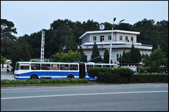 trolleybus in Pyongyang, North Korea (yackshack) Tags: travel bus nikon asia asien north korea explore trolleybus pyongyang corea dprk coreadelnorte nordkorea d5000 coredunord coreadelnord   pjngjang dvrk