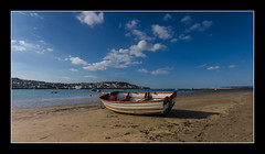 Boat at Instow (Travels with a dog and a Camera :)) Tags: uk blue sea england sky southwest west beach clouds digital photoshop coast march boat dc seaside sand pentax unitedkingdom south north sigma bluesky coastal devon 1020mm 43 2010 lightroom appledore northdevon instow cs6 1456 k20d justpentax pentaxk20d sigma1020mm1456dc photoshopcs6 lightroom43