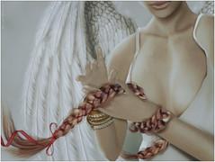 Tamzin~Red Ribbon Angel (Skip Staheli *11 YEARS SL PHOTOGRAPHY*) Tags: angel hair wings soft emotion avatar sl fantasy secondlife dreamy virtualworld littleprincesses skipstaheli tamzinxigalia