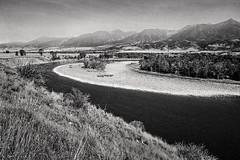 Mallard's Rest (ivanpenaphoto) Tags: bw canon river landscape yellowstone yellowstoneriver mallardsrest ivanpena fineartbyivan