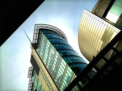 city uk blue england sky urban black building green... (Photo: Мaistora on Flickr)