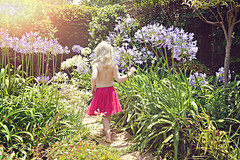 Enchanted Garden - Explore (Sunshine-D) Tags: summer girl childhood garden child path dream agapanthus enchanted secretgarden