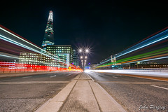 London Bridge & The Shard - Traffic Trails (John Parfrey) Tags: longexposure london night londonbridge lighttrails traffictrails johnparfrey theshard canoneos5dmkii march2013