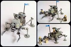 Artillery Spyder (Buster) Tags: history tank lego think mecha alternate tachikoma quadruped dieselpulp marchikoma uploaded:by=flickrmobile flickriosapp:filter=nofilter