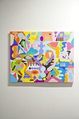 Encuentro.Mina Hamada.Técnica mixta sobre lienzo.92x73cm
