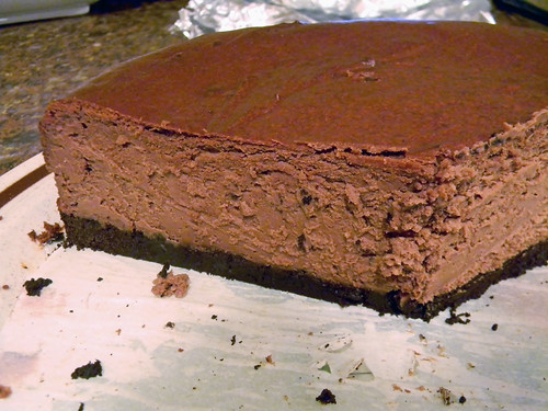 Deep Dark Chocolate Cheesecake by jazzijava