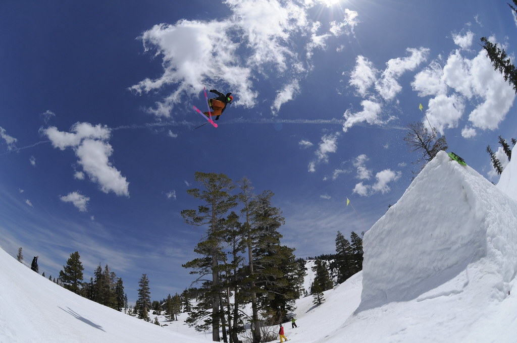 Big booter in the terrain park during the 2010-11 season