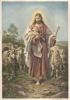 Der gute Hirte, The Good Shepherd - 1887 - B. Plockhorst  - Bernhard Plockhorst