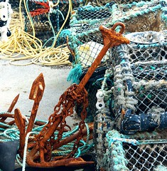 AnchorChain (Hodd1350) Tags: christchurch rust sony rope chain dorset anchor lobsterpots a77