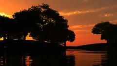 Silhouette (Vestaligo in deep mourning) Tags: trees sunset sky water silhouette clouds river wasser sonnenuntergang hills fluss bume hgel mygearandme