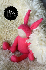 Ms Pink (Fig & Me) Tags: rabbit bunny easter dolls natural handmade babydoll cashmere boneca mueca poupe lalka clothdoll popje stoffpuppe waldorfinspired figandme