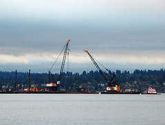 March 15, 2013 - Ahoy! Barges at work (WSDOT) Tags: lakewashington sph kgm fbl floatingbridge sr520bridge lastanchor