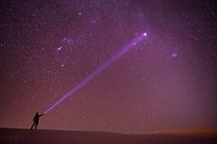 031413_FlashlightStars (Mike Mezeul II Photography) Tags: sky newmexico color night stars nikon purple space whitesands dream galaxy flashlight astronomy mezeul