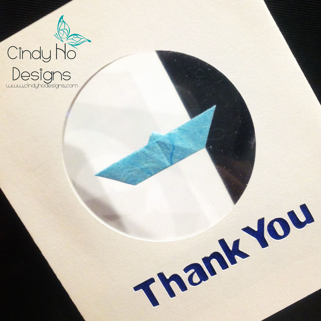 Traditional Origami Boat Thank You Card West Coast Tags