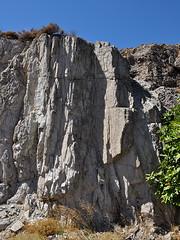 Eresos - Cliff (Drriss & Marrionn) Tags: travel landscape island rocks europe cliffs greece lesvos lesbos eresos mountans northaegean