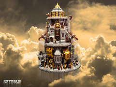 SKYHOLM- the flying city (Fianat) Tags: lego steam steampunk