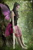 In Fairy Thoughts (Fleur de Lotus) Tags: park tree green forest wings model fairy fantasy magnolia blacktop pinklaces pinktutu