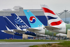 Airbus A380s (Curufinwe - David B.) Tags: france airport aircraft aviation air korean airbus a380 british toulouse airways britishairways avion airbusa380 koreanair hautegaronne midipyrnes avgeek a380800 airbusa380800