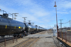 Tank cars (Michael Berry Railfan) Tags: beaconsfield quebec montreal canadianpacific cp amt tankcars
