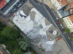 ST ETIENNE 06.2016 (Ella et Pitr, les Papiers Peintres) Tags: street art giant floor drawing ella dessin stetienne geant parterre pitr ellapitr