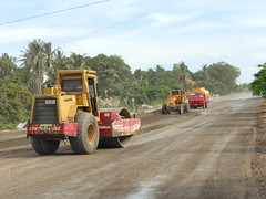 Highway Construction (rodeochiangmai) Tags: cambodia infrastructure streetscenes constructionequipment