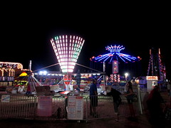 Franklin County Fair Midway At Night. (dccradio) Tags: malone ny newyork franklincounty franklincountyfair communityevent fun entertainment event annual fair festival countyfair night lights amusementsofamerica carnival midway aofa biga nightlights elibridgecompany scrambler ridefence bigeli chancerides yoyo trapezeswings pharaohsfury crystallils zerogravity tickets ticketbox carnivalrides thrillrides mechanicalrides amusements amusementdevice fairrides led