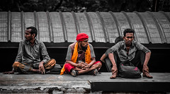 Three different life in one Platform >>>> (mithila909) Tags: people lifestyle emotion expression streetphotography streetlife bangladesh