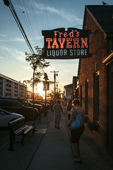 (Pay No Mind) Tags: new jersey stone harbor town sign neon dusk sunset goldenhour
