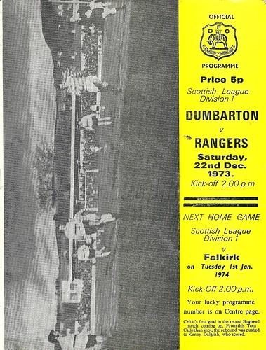 Dumbarton v Rangers 19731222