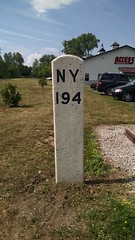 West Shore RR Milepost NY 194, Fort Plain, NY (CNYrailroadnut) Tags: west shore railroad fortplain ny nellison new york central rr montgomery county