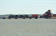 Bayview Bridge (craigsanders429) Tags: norfolksouthern norfolksoutherntrains nschicagoline sanduskybay water lakeerie lakeerieinohio railroadbridges bridges nsstacktrains sanduskyohio bayviewohio bayviewbridge nsintermodaltrains greatlakes