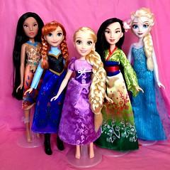 Hasbro Disney Doll Collection (honeysuckle jasmine) Tags: disney hasbro pocahontas anna rapunzel mulan elsa princess frozen tangled queen dolls