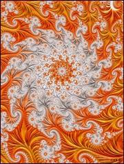 Orange Crush (antarctica246) Tags: antarctica246 fractal fractalart fractalspiral spiral orangecrush mathart generativeart white orange